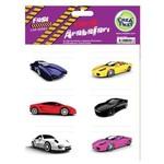 Crea Tiket Creatiket 1023 Yarış Arabaları Serisi Okul Etiketi