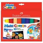 Faber Castell Multi Crayon Pastel 10 Renk