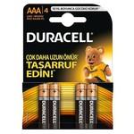Duracell Aaa Ince Kalem Pil Alkalin 4 Adet