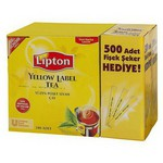 Lipton Yellow Label Süzen Poşet Siyah Çay + 500 Fişek Şeker Hediye