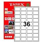 Tanex Yazıcı Etiketi 45x30 Mm 3600 Adet Model Tw-2036