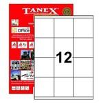 Tanex Yazıcı Etiketi 70x70 Mm 1200 Adet Model Tw-2312