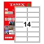 Tanex Yazıcı Etiketi 99.1x38.1 Mm 1400 Adet Model Tw-2014