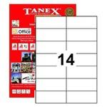Tanex Yazıcı Etiketi 105x42.69 Mm 1400 Adet Model Tw-2712