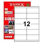 Tanex Yazıcı Etiketi 105x46 Mm 1200 Adet Model Tw-2512