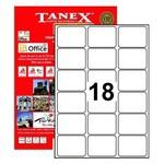 Tanex Yazıcı Etiketi 63.5x46.6 Mm 1800 Adet Model Tw-2018