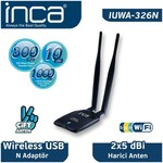 Inca IUWA-326N High-Gain Wireless N Mini USB Adaptör