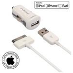 Mirax iPhone 4/4S araç şarj kiti, iPad&iPod uyumlu, Orijinal Apple Lisanslı