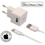 Mirax iPhone  6S/6SPlus/6/6Plus/5/5S/5C duvar şarj kiti, iPad&iPod uyumlu, Orijinal A