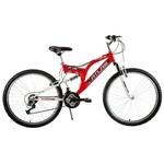 Tunca Ats-516 Atlas 24 Jant 21 Vites Amortisörlü Bisiklet - Kırmızı