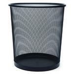 MAS 854 Çöp Kovası Metal Tam Delikli 10 L Siyah
