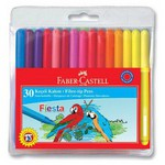 Faber Castell Fiesta Keçeli Kalem 30'lu Poşet