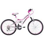 Tunca Ats-709 Tudor 24 Jant 21 Vites Amortisörlü Kız Bisikleti - Beyaz