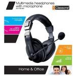 Classone Ah-750mv Profesyonel Suni Deri Kulaklık, Mikrofonlu Ve Kablodan Ses Kont