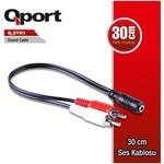 Qport Q-str1 Qport Q-str1 3.5mm Stereo Erkek 2rca Dişi Tos 30 Cm Ses 0su