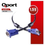 Q-Port Q-vga1_5 Qport Q-vga1.5 15 Pin Fitreli 1.5 Metre Erkek Erkek Monitör 0