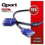Q-Port Q-vga10 Qport Q-vga10 15 Pin Fitreli 10 Metre Erkek Erkek Monitör 0