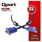 Q-Port Q-vga3 Qport Q-vga3 15 Pin Fitreli 3 Metre Erkek Erkek Monitör 0