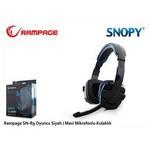 Snopy SN-R9M Oyuncu Siyah/Mavi Mikrofonlu Kulaklık