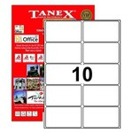 Tanex Yazıcı Etiketi 99x57 Mm 1000 Adet Model Tw-2010