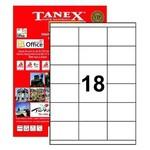 Tanex Yazıcı Etiketi 70x46 Mm 1800 Adet Model Tw-2218