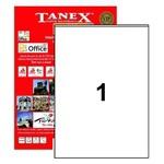 Tanex Yazıcı Etiketi 210x294.86 mm 100 Adet Model TW-2294