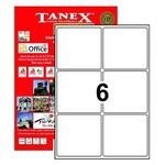 Tanex Yazıcı Etiketi 99.1x93.1 Mm 600 Adet Model Tw-2006