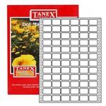 Tanex Yazıcı Etiketi Sürekli Form 17x25 Mm Model Tn-0016