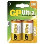 GP 13au Lr20 Ultra Alkalin Kalın D Pil 2'li Paket