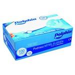 Dolphin Muayene Eldiveni Pudrasız Nitril Mavi 100 Adet