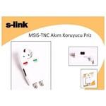 S-Link Msıs-tnc Akım Korumalı Grup Priz. Kablo Tv, Uydu, Tnc, Telefon Hattı Çıkışlı.