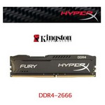 Kingston HyperX Fury Black 4GB CL15 DDR4 Bellek (HX426C15FB-4)