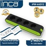 Inca Ipw-44sy2 Ipw-44sy2 Inca %100 Türk Tasarımı 4'lü Akım Korumalı Işıklı Priz 2