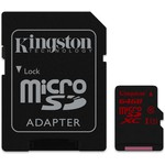 Kingston 64GB UHS-I U3 microSD Kart (SDCA3/64GB)