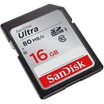 SanDisk 16 GB SDSDUNC-016G-GN6IN 80-MB 16GB ULT SD C10
