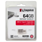 Kingston 64GB DataTraveler MicroDuo USB-C Bellek (DTDUO3C-64G)