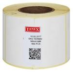 Tanex Termal Yazıcı Etiketi Rulo 58x40 Mm 600 Adet