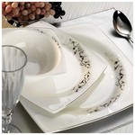 Kütahya Porselen Aliza Bone 83 Parça 65109 Desenli Yemek Takımı