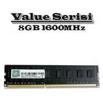 G.Skill Value 8GB Desktop Bellek (F3-1600C11S-8GNT)