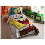 Taç Sponge Bob Happy Tek Kişilik Pike Takımı