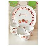 KeramIka Set Hıtıt Kahvaltı 8 Parca Beyaz 004 Fruıt Cake A