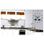 İhouse 10 C 12007 Stickerli Duvar Saati Siyah 80cmx80cm