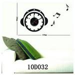İhouse 10 D 032 Stickerli Duvar Saati Siyah 59cmx33cm