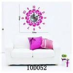 İhouse 10 D 052 Stickerli Duvar Saati Pembe 32cmx32cm