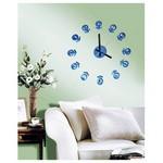 İhouse 10 E 001 B Slikonlu Duvar Saati Mavi 80cmx80cm