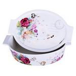 İhouse 33203-kapaklı Porselen Fırın Kabı 29x19x8-beyaz