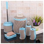 İhouse 3509 Stonware 6 Parça Banyo Seti Mavi