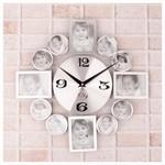 İhouse 4214 Dekoratif Duvar Saati Gümüş