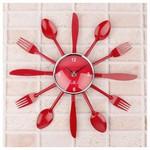 İhouse 4244 Dekoratif Duvar Saati Kırmızı