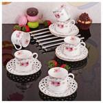 İhouse 4316 Porselen 6 Lı Kahve Takımı Beyaz